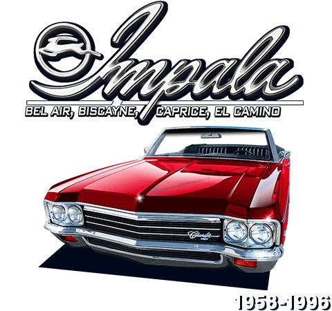 Impala Bil Air, Biscayne, Caprice, El Camino 1958-1996